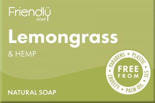 Friendly Soap Lemongrass & Hemp Bar